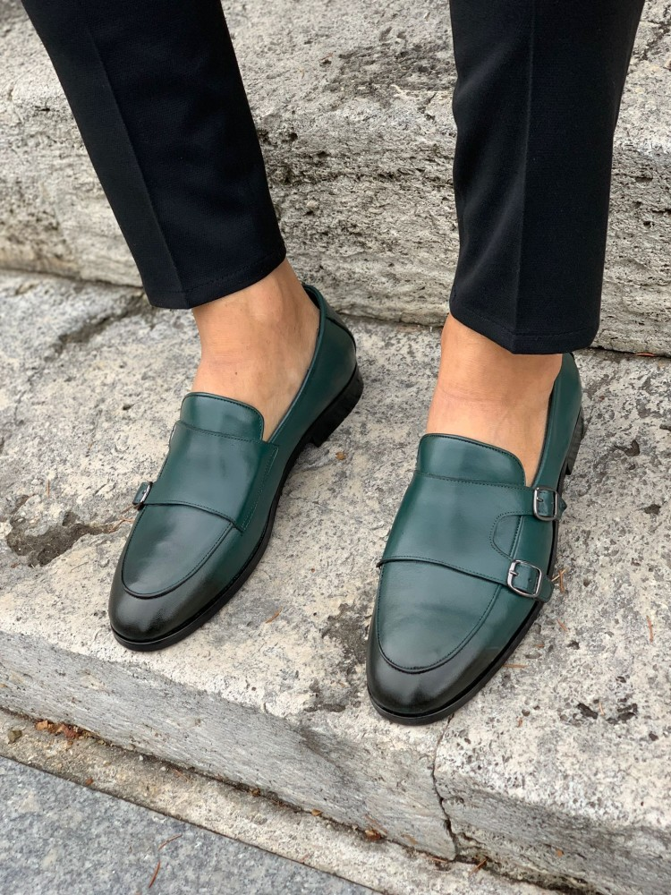 Green Buckled Shoes