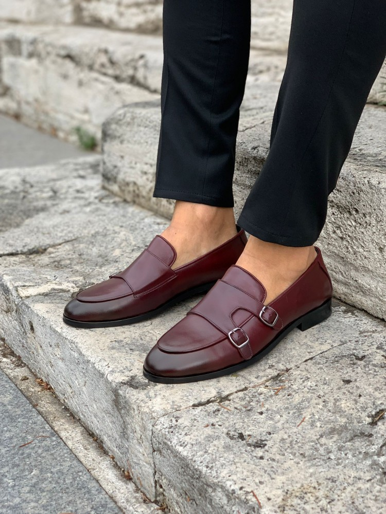 Burgundy Buckled Shoes