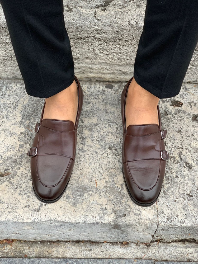 Bitter Brown Buckled Shoes