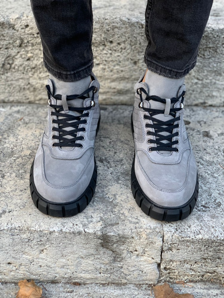 Suede Gray Roma Men's Sports Boots